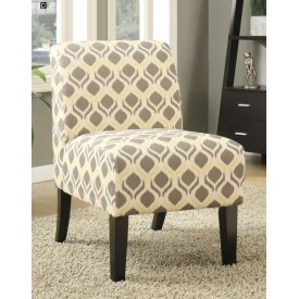 Yellow & Grey Accent Chair
