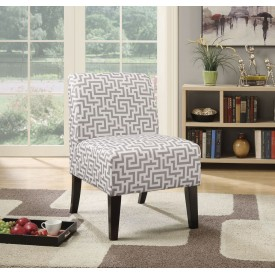 Grey Maze Accent Chair