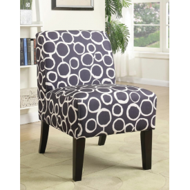 Blue Circles Accent Chair