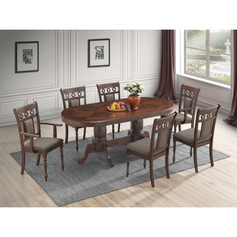 Violet 7pc Oval Dining Set