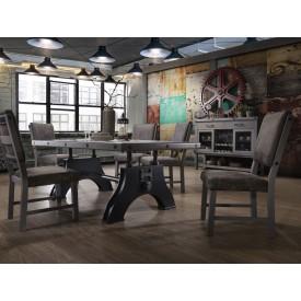 Rustic Bolt 9pc Dining Set