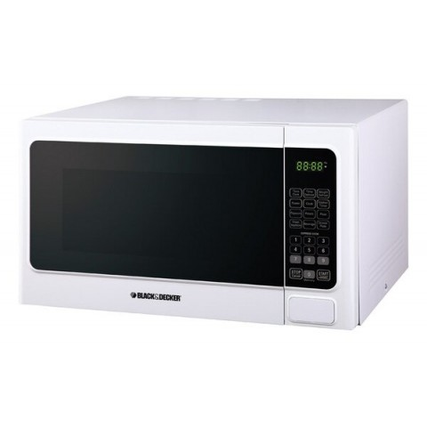 Black & Decker 1.1cu White Microwave Oven