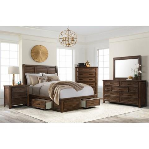 Sullivan Queen 4pc Storage Bedroom (QB, NS, Dresser, Mirror)